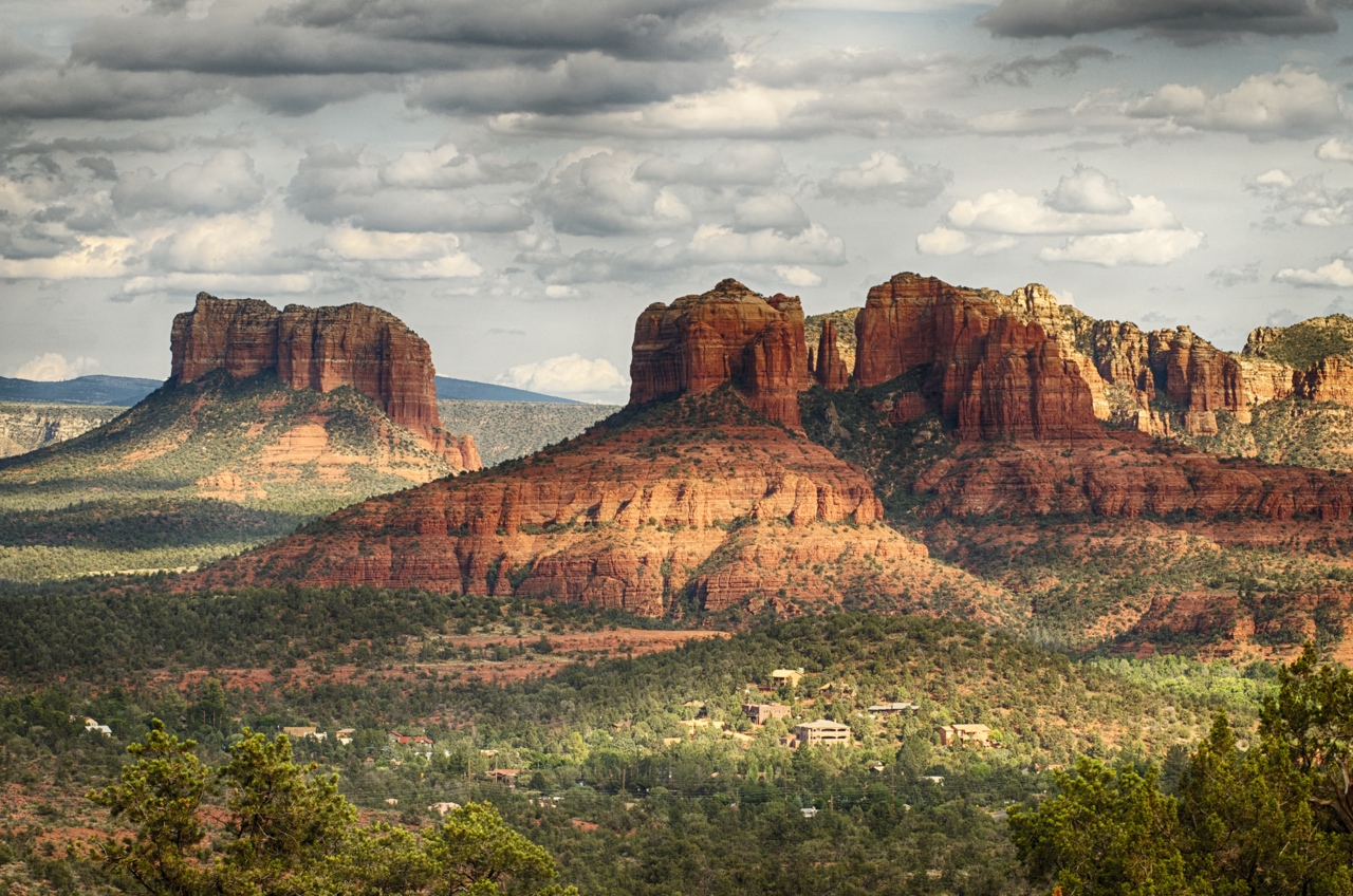 yoga studio with a sedona view by Dexx
